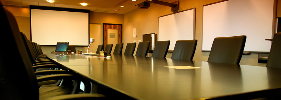 Image of Boardroom with projection screens