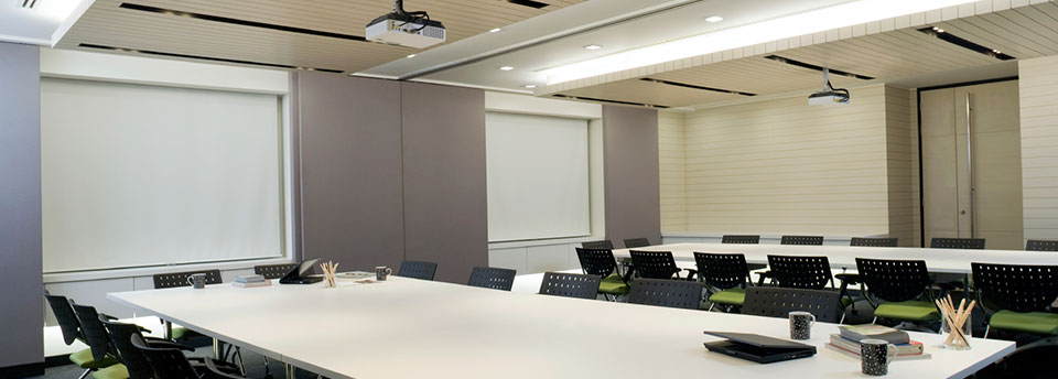 Image of boardroom with projection screen